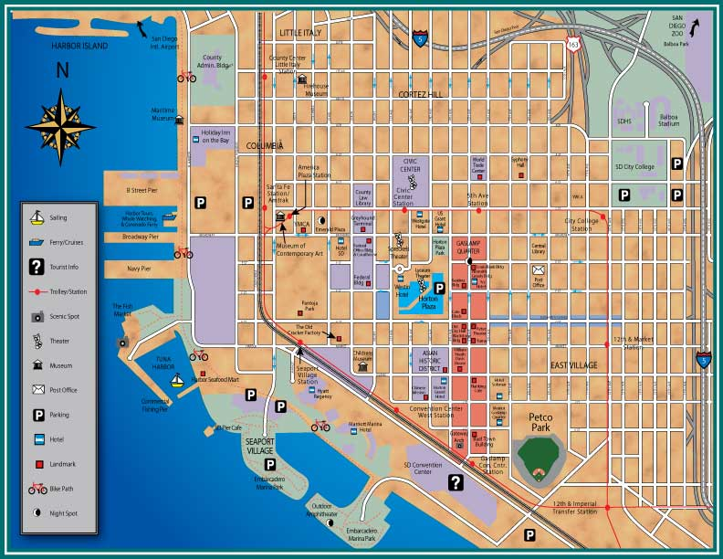 San diego zoo map pdf images san diego downtown map sciox Images