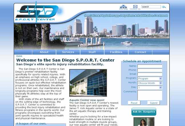 S.P.O.R.T. Center Website